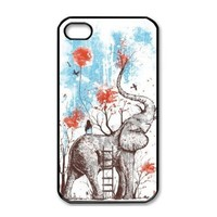 Change Cool Elephant Hard Back Cover Case for Iphone 4 4g 4s