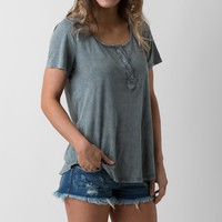 BKE Washed Henley Top
