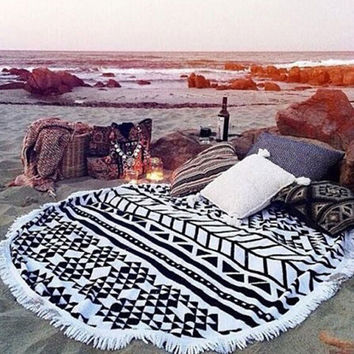 Cupshe Summer Vacation Beach Towel