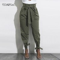 High Tie Waist Pants