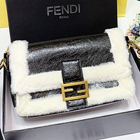 Fendi New fashion artificial plush shoulder bag crossbody bag women