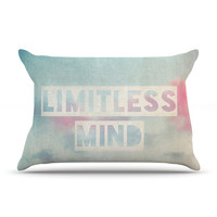 "Ingrid Beddoes ""Limitless Mind"" Clouds Blue Pillow Case"