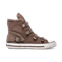 Ash Virginy Sneaker with Lamb Fur in Taupe