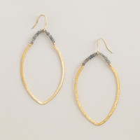 Gold and Labradorite Drop Earrings - World Market