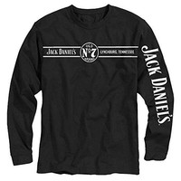 Jack Daniels Men's Daniel's Lynchburg, Tn Long Sleeve T-Shirt Black Large