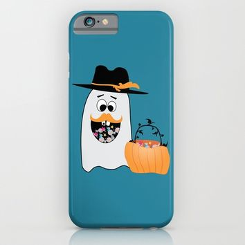 Silly Halloween Ghost Wants Your Candy iPhone & iPod Case by PLdesign | Society6