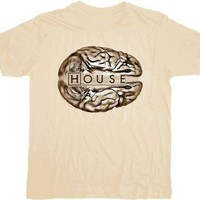 House M.D. Brain Logo T-shirt  - House - | TV Store Online