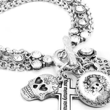 Copy of Day of the Dead Charm Bracelet