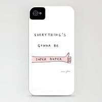 everything's gonna be super duper iPhone Case by Marc Johns | Society6