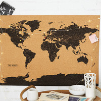 Gift Republic Corkboard Map, Multi