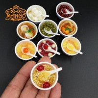 5PCS/LOT 1:12 Scale Dollhouse Miniature Chinese Play Food Toy Doll Food Miniatura Kitchen Accessories Doll accessories for Barbi