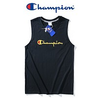 Champion New fashion bust embroidery letter vest couple top t-shirt