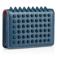 Teal Spiked Wallet by Christian Louboutin