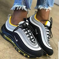Nike Air Max 97 fashion couple color matching cushioned casual sneakers