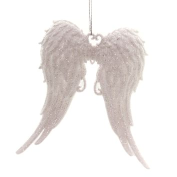 Holiday Ornament Angel Wings Faith Gods Presence Heavenly - T2098WS WHITE