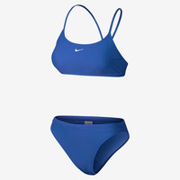 The Nike Nylon Core Solid Women's Two-Piece Swimsuit.