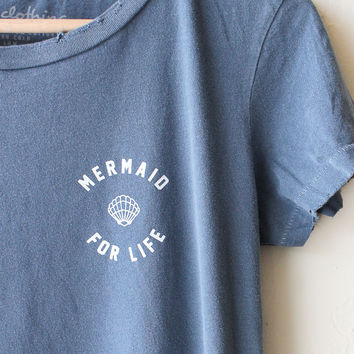 Mermaid For Life Destroyed Tee