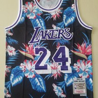 Lakers Mitchell & Ness 24 Bryant Floral Fashion Jersey