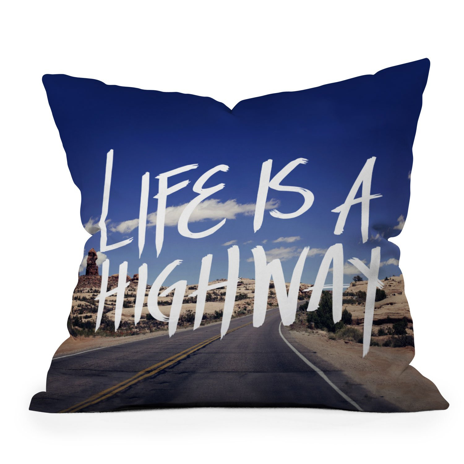 Image of Leah Flores Life Is A Highway Throw Pillow