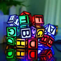 Waterproof Solar Powered String Lights 30 LED Letter Pattern