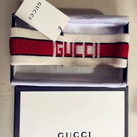 GUCCI Fashion Women Men Personality Print Sport Headwrap Headband I