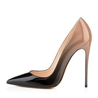 Hecater Pointed Toe Pumps,Women High Heel Stilettos Sexy Slip On Dress Party Shoes Size 4-15 US