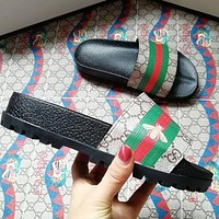 Gucci men and women Fashion Slippers-25