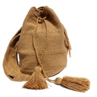 Wayuu Crossbody Mochila Bag - Tan