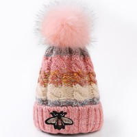 """GUCCI"" Women Embroidery Beanies Knit Hat Warm Woolen Hat"