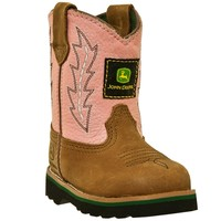 John Deere - Johnny Popper Infant Boot - Tan and Pink