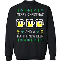Happy New Beer Ugly Christmas Sweater