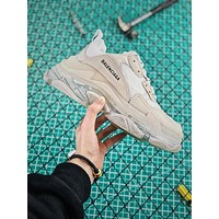 Balenciaga Triple S Clear Sole Trainers Sneakers White With Air Bubble