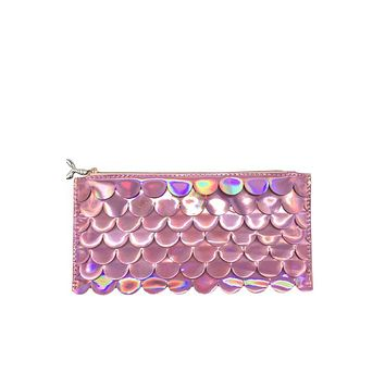 Holographic Scales Pencil Pouch - Pink