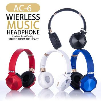 New head-mounted wireless bluetooth headset can be inserted card folding heavy bass gift mobile phone headset