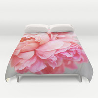 Peonies Forever Duvet Cover by Ez Pudewa