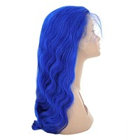 """She She Lux  Luxury """"Sapphire"""" Blue Lace Wig Human Hair"""