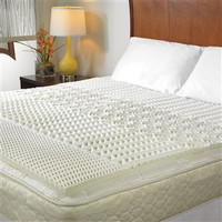 Full Size 1.5-inch Thick Convoluted Memory Foam Mattress Topper