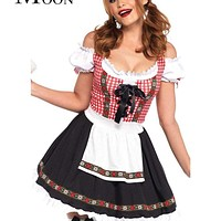 MOONIGHT Fashion Oktoberfest Costume German Bavarian Dress Up Beer Girl Maid Costume Macchar Cosplay Catalogue
