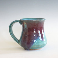 Pottery Mug, 8 oz, unique coffee mug, handmade cup, handthrown mug, stoneware mug, wheel thrown pottery mug, ceramics and pottery