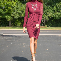 Body-con knit dress