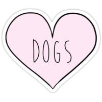 'Dog Heart' Sticker by sarajodesigns