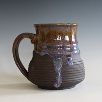 Pottery Coffee Mug, 14 oz, unique coffee mug, handmade ceramic cup, handthrown mug, stoneware mug, wheel thrown pottery mug, ceramics
