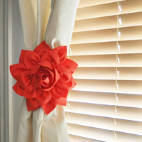 Coral Curtain Ties