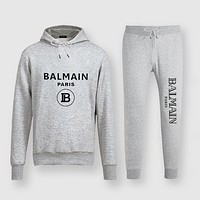 Balenciaga Fashion Casual Top Sweater Pullover Hoodie Pants Trousers Set Two-Piece