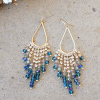 Sparkling Wisteria Earrings [3450] - $21.00 : Vintage Inspired Clothing & Affordable Fall Frocks, deloom   Modern. Vintage. Crafted.
