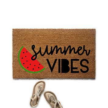 Summer Vibes Watermelon Doormat