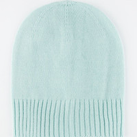 Ribbed Edge Beanie Mint One Size For Women 26396852301
