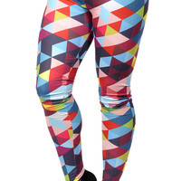 Color Triangles Leggings Design 606