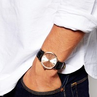 ASOS Classic Watch With Black Strap