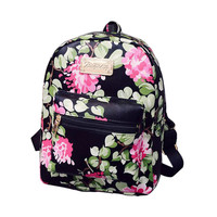 2016 New Printing Backpack School Bags For Teenagers PU Leather Women Backpacks Girls Travel Bag High Quality